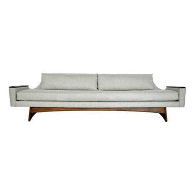 Eco Friendly Furnture and Lighting - Adrian Pearsall Sculptural Sofa.USA 1960's Sculptural form sofa designed by Adrian Pearsall. Fully restored. Newly upholstered in Italian linen woven fabric.
