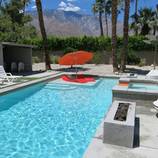 Midcentury Pool by Ledge Lounger LLC