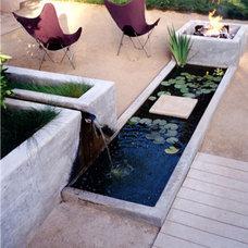 Modern  modern water feature
