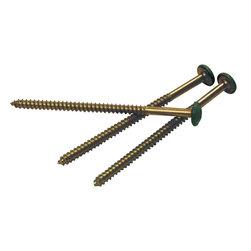 Builders Edge - Painted Head Steel Screws in Moss - 12-Pack ( - Provides an alternative method of installing shutters. Made in the USA. 0.375 in. W x 0.375 in. D x 2.5625 in. H (0.2 lbs.)
