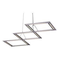 ET2 - ET2 Helix Modern / Contemporary LED Kitchen Island / Billiard Light X-01-24902E - No ultra-modern home should be withouth this ET2 Helix modern/contemporary LED kitchen island/billiard light. This unique fixture features sleek parallel tracks in a polished chrome finish with segments of multiple LEDs that independently pivot, thus directing light in different configurations. It will definitely be an interesting addition to your home.