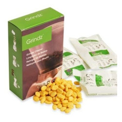 Grindz - Grindz Coffee Grinder Cleaning Tablets - Allows you to easily and safely remove oil and coffee residue on coffee grinders, as well as eliminate flavored coffee taste and odors. Made of 100% all-natural and food safe citric powder. Contains three 1.2-oz. cleaning tablet packs.