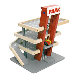 Melissa and Doug Parking Garage - Many of us may have memories of hours of car play, and this modern structure helps our children continue with the fun. All wooden with a hand operated elevator, this fun garage will make for hours of fun without being an eyesore. Beep beep.