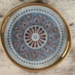 Accessories and Accents - Having the design painted on reverse painted glass prevents the hand painted design from fading!