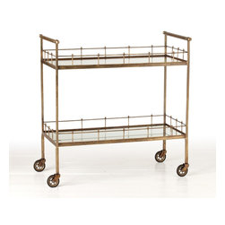 Arteriors Lisbon Vintage Bar Cart - I insist that every formal living room have a bar cart. It's an entertaining room, and what better way to entertain than to pour a couple of cocktails? Fill it with your favorite spirits and add some pretty glassware for instant glam. This gold/brass bar cart has slim lines, so it's not overwhelming. It even has wheels, so you can move it around depending on your arrangement.