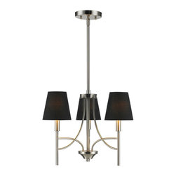 Golden Lighting - Golden Lighting Taylor 3 Light Chandelier - Mini - A classic form with modern details makes the Taylor collection a truly transitional style. Graceful arms and clean lines create a timeless design. Opal shades provide a soft warm light, while Tuxedo shades add drama. Soft Pewter finish instantly updates any decor. Bath fixtures feature opal glass providing a pure white light. Creates a soft glow for task lighting. Comfortably sized for a small dining room or nook. .  Wire Length: 10 foot.