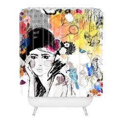 None - Holly Sharpe Dreamer Shower Curtain - Vibrant and colorful,this one-of-a-kind shower curtain will really make your bathroom pop. The Holly Sharpe Dreamer shower curtain features a fun patchwork design.