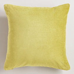 Oasis Cotton Velvet Throw Pillows - Lush velvet throw pillows in various colors are a lovely accessory in a boutique hotel.