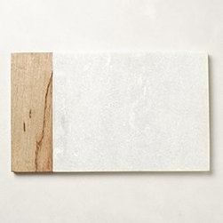 "Anthropologie - Cedar & Stone Cheese Board - Marble, woodHand washRectangle: 14""L, 8.5""WRound: 12"" diameterImported"