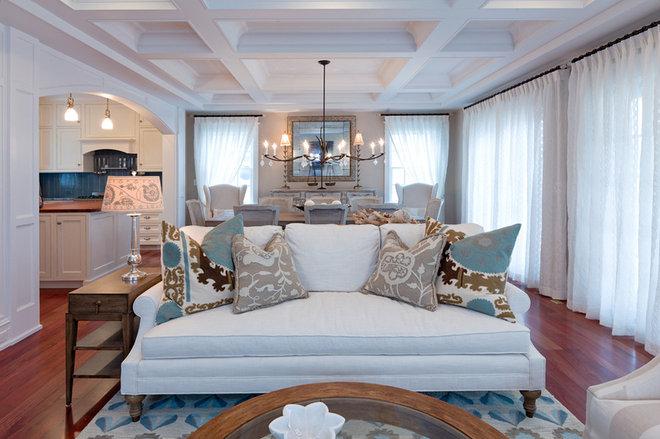 Beach Style Living Room by CANDICE ADLER DESIGN LLC