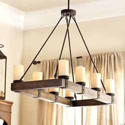Ballard Designs - Arturo 8-Light Rectangular Chandelier - This gorgeous light fixture would look beautiful over any dining area.