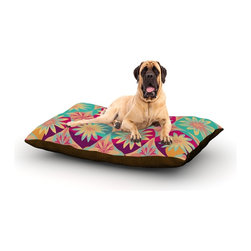 "Kess InHouse - Nika Martinez ""Happy Flowers"" Floral Abstract Fleece Dog Bed (50"" x 60"") - Pets deserve to be as comfortable as their humans! These dog beds not only give your pet the utmost comfort with their fleece cozy top but they match your house and decor! Kess Inhouse gives your pet some style by adding vivaciously artistic work onto their favorite place to lay, their bed! What's the best part? These are totally machine washable, just unzip the cover and throw it in the washing machine!"