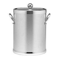 Kraftware - Americano 5-qt. Ice Bucket in Brushed Chrome - Metal side handles. Made in USA. 10 in. Dia. x 12 in. H (4 lbs.)The Grant Signature Home Collection's Americano Collection is the only Real Metal Collection in the U.S.A. This is real home entertaining quality at affordable prices.
