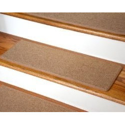 "Dean Flooring Company - Dean Non-Slip Tape Free Pet Friendly DIY Carpet Stair Treads/Rugs 27"" x 9"" (15) - Dean Non-Slip Tape Free Pet Friendly DIY Carpet Stair Treads/Rugs 27"" x 9"" (15) - Color: Gold : Quality, Stylish Carpet Stair Treads by Dean Flooring Company. Extend the life of your high traffic hardwood stairs. Reduce slips/increase traction. Cut down on track-in dirt. Great for pets and pet owners. Made in the USA from quality, long lasting stain resistant olefin carpeting with non-slip padded foam backing. Stands up great to high traffic. A fresh new look for your staircase. Do-it-yourself installation is quick and easy with our unique non-slip backing. Simply place your stair tread rugs on your staircase and go. No tapes, adhesives, staples, glue, or Velcro needed. And rest assured, they won't move and they won't damage your hardwood either. They are also simple and easy to remove as well with no sticky residue left behind. Each tread is bound with color matching binding tape. No bulky fastening strips. You may remove your treads for cleaning and re-attach them when you are done. Add a touch of warmth and style to your stairs today with new stair treads from Dean Flooring Company! We make our own stair treads at Dean Flooring Company and our products are not available from anyone else."