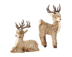 "Deer Ornaments (Set of 2) - Bring a little something special to your ""Winter Chalet"" tree with these adorable Deer Ornaments from Iron Accents."