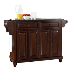 Crosley Furniture - Crosley Furniture Cambridge Black Granite Top Mahogany Kitchen Cart - Crosley Furniture - Kitchen Carts - KF30004DMA - Constructed of solid hardwood and wood veneers this kitchen island is designed for longevity. The beautiful raised panel doors and drawer fronts provide the ultimate in style to dress up your kitchen. Two deep drawers are great for anything from utensils to storage containers. Behind the four doors you will find adjustable shelves and an abundance of storage space for things that you prefer to be out of sight. Style function and quality make this kitchen island a wise addition to your home.