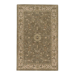 Surya - Hand-tufted Camelot Wool Rug (10' x 14') - This muted style brown hand tufted rug features dark, outdoorsy colors of olive, fern, and terracotta. Perfect for the outdoors enthusiast, this rug will look great in any living room, office, or cabin, and provides durability and lasting beauty.