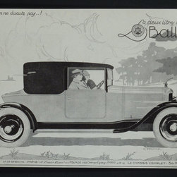 Ballol Ad, C. 1920, Artwork - Original Vintage Ad for Ballol from the French periodical L'Illustration, circa 1920.