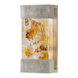 Fine Art Lamps - Crystal Bakehouse Carnelian & Citrine Crystal Sconce, 810850-31ST - Bring the beauty of natural minerals to your favorite setting — indoors or out. This sleek wall sconce showcases a hand-crafted, polished block of carnelian and citrine crystal shards within a sleek frame.