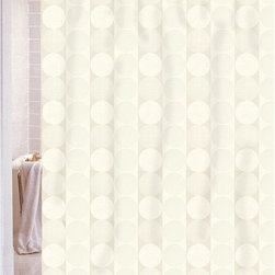 Other Brands - Carnation Home Fashions Jacquard Circle Vertical Stripe Fabric Shower Curtain - - Shop for Shower Curtains from Hayneedle.com! Stripes of circles give the Carnation Home Fashions Jacquard Circle Vertical Stripe Fabric Shower Curtain its contemporary charm. Just right for your bath this shower curtain comes in your choice of color for a custom look. It's made of machine-washable polyester fabric for lasting beauty.About Carnation Home FashionsYour home your style Carnation Home Fashions believes in this motto. That s why this home fashions company offers a wide range of on-trend and classic products designed for style and convenience. Perfect for matching today s busy lifestyles their bath products meet your needs in style. Carnation Home Fashions is based in Newburgh New York.