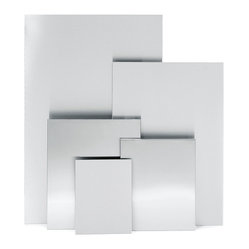 "Blomus - Muro Magnetic Note Boards - 19.7"" x 23.6"" - It's not exactly a blank slate. Think of it more as a modernistic intersection for all the thoughts, photos and plans of your life. This magnetic note board creates a flexible and accessible freeway for expression. ""Blank"" will not be the operative word here."