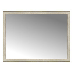 """Posters 2 Prints, LLC - 48"""" x 36"""" Libretto Antique Silver Custom Framed Mirror - 48"""" x 36"""" Custom Framed Mirror made by Posters 2 Prints. Standard glass with unrivaled selection of crafted mirror frames.  Protected with category II safety backing to keep glass fragments together should the mirror be accidentally broken.  Safe arrival guaranteed.  Made in the United States of America"""