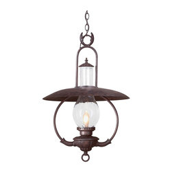 """Troy Lighting - Troy Lighting FCD9014OBZ Old Bronze La Grange 1 Light 30 Outdoor Lantern Pendant - Metalwork: Hand-Forged Iron Glassware: Clear Seeded (CD) 1 - 100W Medium Base (Not Included) 20""""W 30""""H Chain Hung Fixtures come with 4 Feet of Chain and 10 Feet of Wire"""