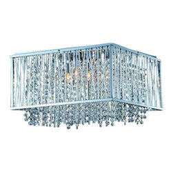 ParrotUncle - Steel Square Frame Living Room G9 Crystal Chandelier Flush Mount - Hanging this Steel Square Frame Living Room G9 Crystal Chandelier Flush Mount in your living room or bedroom, you'll start critiquing every other lighting fixture in the house. The light's unique design will change the way you think about illuminating a room.