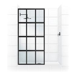 "Coastal Shower Doors - Coastal Gridscape Series Multi-Pane ""Windowpane"" Shower Doors, 31"" Width X 76"" H - GRIDSCAPE(TM) Shower Doors"