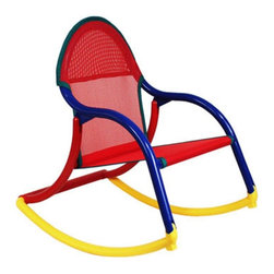 Hoohobbers - Mesh Rocking Chair - 248-02 - Shop for Childrens Rocking Chairs from Hayneedle.com! The Hoohobbers Mesh Rocking Chair is constructed of a solid polypropylene frame. The trapezoidal shape makes it extra stable and the foot pads under the front of the rocker keeps the chair steady as kids climb in to sit. The rocker is ultra convenient. It folds in seconds for easy transport and storage. The rocker can even follow your child outside since it's 100% water safe (to avoid any possibility of colors running be sure the seat is thoroughly dry before using.). Ideal for children 18 months up to 5 years.