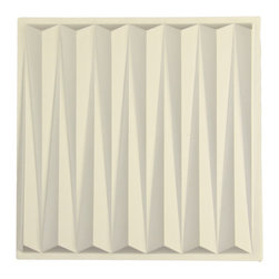 """Dart Ceiling Tile - Sand - Perfect for both commercial and residential applications, these tiles are made from thick .03"""" vinyl plastic. Their lightweight yet durable construction make these tiles easy to install. Waterproof, these tiles are washable and won't stain due to humidity or mildew. A perfect choice for anyone wanting to add that designer touch at an amazing price."""