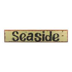 "Handcrafted Model Ships - Wooden Seaside Nautical Plaque 36"" Beach Bedroom Theme Vintage Beach Sign - New - Immerse yourself in the warm ambiance of the beach, imagining golden sands between your toes as you listen to the gentle sound of the surf, while you enjoy Handcrafted Nautical Decor's fabulous Beach Signs. Perfect for welcoming friends and family, or to advertise a festive party at your beach house, bar, or restaurant, this Wooden Seaside Nautical Plaque 36"" sign will brighten your life. Place this beach sign up wherever you may choose, and enjoy its wonderful style and the delightful beach atmosphere it brings."