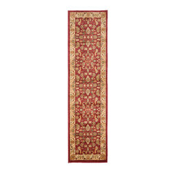 Safavieh - Safavieh Heirloom Hlm1740-4011 Red / Creme Area Rug - Using style and sophistication without becoming too formal, Safavieh Heirloom rugs create a sense of welcome wherever they are placed. Perfect at bringing a sense of elegance to your home, Heirloom rugs use ornate floral designs featuring vines and latticework. Machine made from polypropylene, the Heirloom rug collection retains the high quality of traditional Persian and European rugs while being easier to care for and highly durable.