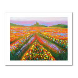ArtWall - Susi Franco 'Floral Landscape' Unwrapped Canvas - Artist: Susi FrancoTitle: Floral LandscapeProduct type: Unwrapped canvas