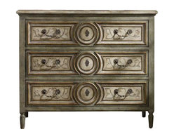 Hooker Furniture - Hooker Furniture Windermere Hand-Painted Three Drawer Chest - Hooker Furniture - Chests - 514585001 - How do you give your home a personal touch and make it a reflection of your passions and personality? Get started by selecting a unique and original accent as an artistic expression of who you are. With hundreds of accent tables, chests, curios, credenzas, and desks to select from at Hooker Furniture, you�re sure to find one that delights you.