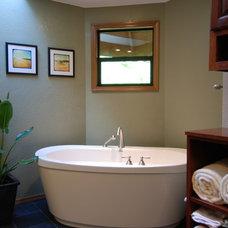 Asian Bathroom by Greene Designs LLC