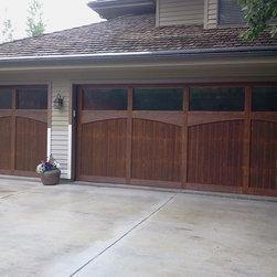 Park City - Knotty Cedar, Insulated, Stain Grade Garage Door, Glass