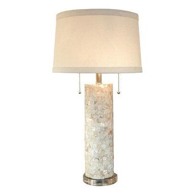 Regina Andrew Mother-of-Pearl Column Table Lamp -