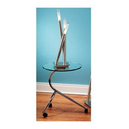"Lumisource - Table Lamp - Icicle - Inspirit your space with an Andy Warhol-esque flair with this finely crafted and eccentrically designed Satin Finished Table Lamp w/ Tubular Chrome Arms, a creative piece exemplary of modern charm and appeal.  Add a look of cool sophistication with this Icicle inspired table lamp.  The streamline styling in brushed stainless steel is modern and appealing.  Cylinder shaped base holds three tubular shaped steel lights with frosted sconces.  Perfect for a desk, nightstand or end table. * Cylindrical frosted sconces.. Brushed satin finish.. Tubular chrome arms.. 7"" W. x 25.5"" H"