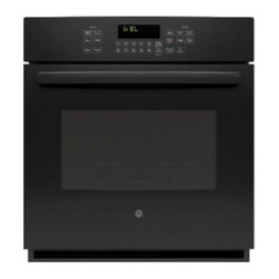 "GE Profile - PK7000DFBB 27"" SC Convection Single Oven  with Hidden Bake Interior  Designer St - This convection single oven is extremely easy to clean with the steam clean option"