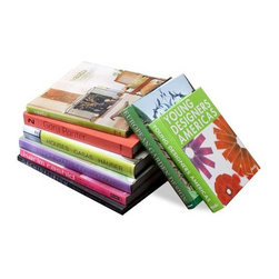 Interlude Home - Interlude Home Design Aficionado Coffee Table Books - A - These Interlude Home Coffee Table Books are crafted from Cardboard and Paper and finished in Assorted Colors.  Overall size is:  9-12 in. W x 1-2 in. D x 9-13 in. H.