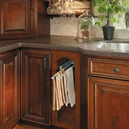 Getting Organized with Fieldstone Cabinetry - Pull out towel rack