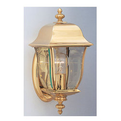 """Designers Fountain - Designers Fountain 1532-PVD-PB 1 Light 6"""" Wall Lantern Solid Brass PVD from the - Features:"""