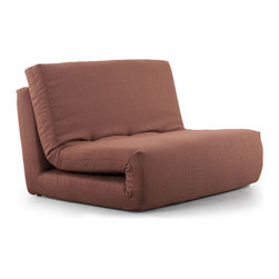 Zuo Modern - Zuo Modern Polygon Sleeper Chair in Mocha Brown - Sleeper Chair in Mocha Brown belongs to Polygon Collection by Zuo Modern The Polygon Sleeper is modern and sleek with its all fabric exterior and its twin sized sleeper shape. Sleeper Chair (1)