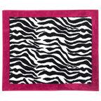 Isabella Hot Pink, Black and White Wallpaper Border by Sweet Jojo ...