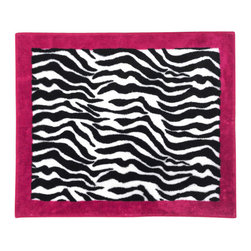 "Sweet Jojo Designs - Pink Zebra Accent Floor Rug - The Pink Zebra Floor Rug by Sweet Jojo Designs adds a designers touch to any childs room. This childrens accent floor rug is constructed from 100% acrylic yarn, which makes it super soft and cozy! It also comes with a non-skid back so that you can safely use it in your childs bedroom or bathroom. This children's floor rug is 36"" x 30"". Dimensions: 36 in. X 30 in.100% Cotton YarnHand TuftedSpot Clean As NeededNon Skid Backing"