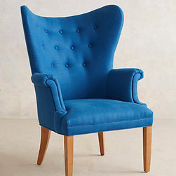 Tufted Wingback Chair - This tailored wingback in a beautiful shade of cobalt is perfection. It doesn't get much better than this.