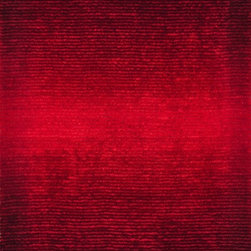 """Loloi Rugs - Loloi Rugs Jasper Shag Collection - Red, 5'-0"""" x 7'-6"""" - Jasper Shag is a contemporary line made in China of 100-percent polyester that is textured with long strands and short cut pile. It features a striking ombre color effect, with gradations of color fading from dark to light. Choose from green glow, mocha, iron, cobalt blue, red, sand and wineberry."""