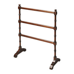 Butler - Blanket Stand in Light Cherry Finish - Made from solid rubber woods. 28 in. W x 12 in. D x 29.25 in. H (7 lbs.)This stand is as beautiful as it is functional, guaranteed to add another style flourish to an already well-furnished bedroom.