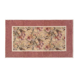 Bacova - Bacova Lakeshore Mauve Elegant Dimensions Indoor Kitchen Door Mat - Brown/Green - Shop for Rugs and Runners from Hayneedle.com! About Bacova The Bacova Guild has become one of the largest producers of printed accent rugs floor mats and bathroom ensembles offering more than 30 distinct product lines with around 3 000 unique items. Located in Covington Virginia Bacova is a wholly owned subsidiary of Ronile Incorporated. They continue to serve a diverse customer base by setting the standard with fresh and innovative fashions exhibited in their annual offerings of hundreds of new designs. With their reach stretching well beyond the borders of the United States Bacova has a worldly outlook to meet the needs of an ever-changing marketplace. In spite of their rapid growth over the last decade Bacova remains committed to a standard of style and quality that can t be matched.